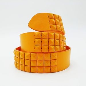 💥 3/$25 NWT Orange Studded Vegan Leather Belt